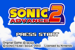 Sonic Advance 2 Title Screen